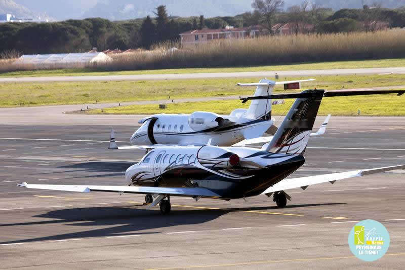 Jets sur l'aéroport Cannes Mandelieu